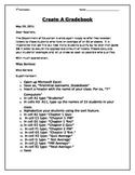 Middle School Excel Assignment- Create A Gradebook