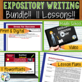 Expository Writing Essay Prompts Bundle | 11 Lessons | Print and Digital