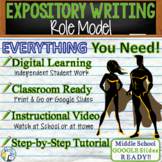 Expository Writing Prompt with Graphic Organizer, Rubric - Role Model