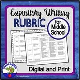 Rubrics - Middle School Expository Writing Rubric
