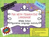 Figurative Language Matching Activity- Middle School Language Arts