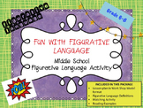 Figurative Language Matching Activity- Middle School Langu