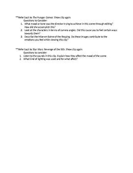 Middle School Film Appreciation Class Introduction