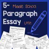 Middle School Five-Paragraph Essay