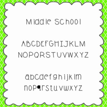 Middle School Font {personal and commercial use; no licens