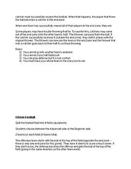 Middle School Football Unit Plan