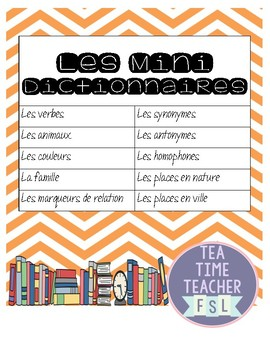 Middle School French Mini Dictionaries