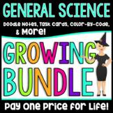 Middle School General Science Activities Growing Bundle