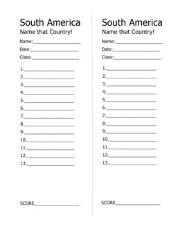 Geography: South America Quiz