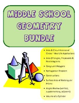 Common Core Middle School Geometry Bundle