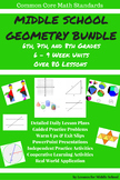Geometry - Middle School Bundle: Grades 6-8 Geometry Standards - 27 Weeks