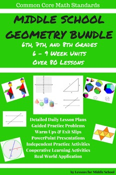Geometry - Middle School Bundle: Grades 6-8 Geometry Stand