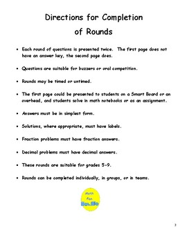 Middle School Geometry Short Rounds