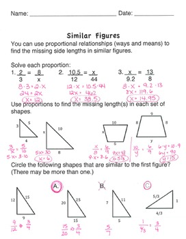 Middle School Geometry Station Set: Dilations and Similar Figures