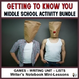 Middle School Getting to Know You Activity Bundle