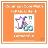 Middle School Grades 6-8 Common Core Math IEP Goal Bank