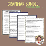 Middle School Grammar Bundle- Covers Standards