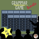 Middle School Grammar Game Bundle- over 25% off individual prices