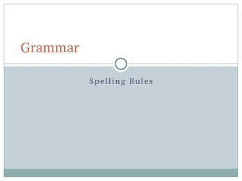 Middle School Grammar PowerPoint - Spelling Rules