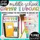 Middle School Grammar Resource Bundle-Mentor Sentences, Exit Tickets, Reference