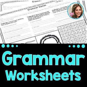 Middle School Grammar Worksheets | Speech and Language No Prep