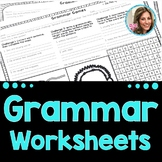 Middle School Grammar Worksheets   Speech and Language No Prep   Speech Therapy
