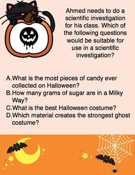 Middle School Halloween Activity - Scientific Investigations Scavenger Hunt