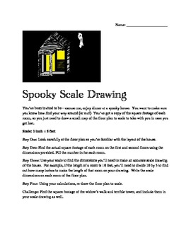 Middle School Halloween Math Activity Spooky Scale Drawing