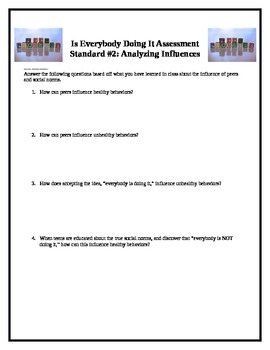 Middle School Health Lesson: Analyzing Influences--Is Everybody Doing It?