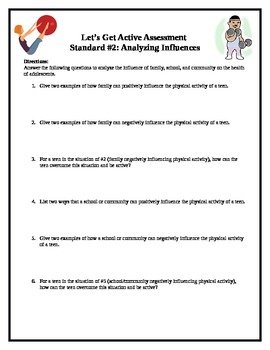 Middle School Health Lesson: Analyzing Influences--Let's Get Active