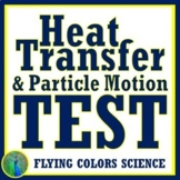 Thermal Energy Heat Test Middle School   NGSS MS-PS3-3 MS-PS3-4 MS-PS3-6