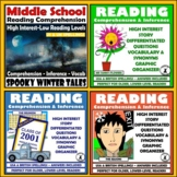 Middle School Hi-lo Reading Passages and Comprehension