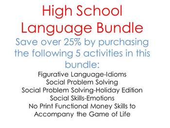 Middle School/ High School BUNDLE