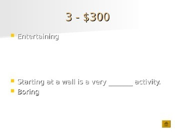 Middle School-High School Semantics/Vocabulary Jeopardy