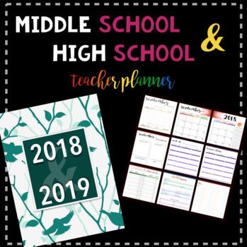 Middle School & High School Teacher Planner: Birds Cover