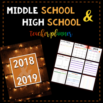 Middle School & High School Teacher Planner: Christmas Lights