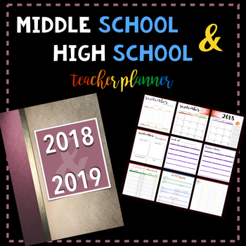 Middle School & High School Teacher Planner: Pink Ribbon Book Cover