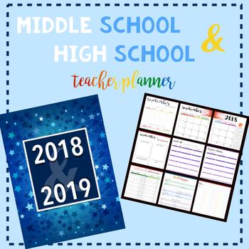 Middle School & High School Teacher Planner: Stars Cover