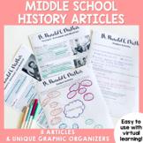 Middle School History Articles for U.S. History Academic Enrichment BUNDLE