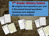 Middle School History Exams - ISLAM - 40 Questions, Common Core Inspired