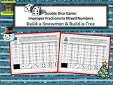Middle School Math--Improper Fractions to Mixed Numbers Game (Holiday Freebie)