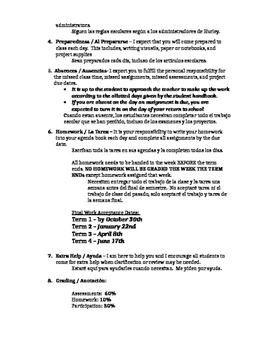 Middle School Humanities Course Syllabus