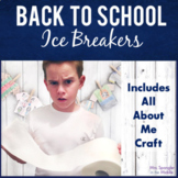"""Icebreakers for Middle School with an """"All about me"""" activity"""