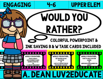 Back to School Icebreaker Would You Rather