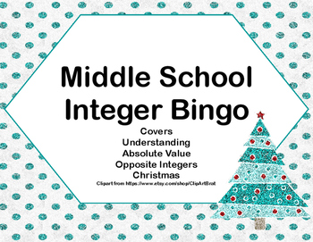 Integer Bingo-Middle School-Christmas Trees