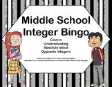 Middle School Integer Bingo-Kids