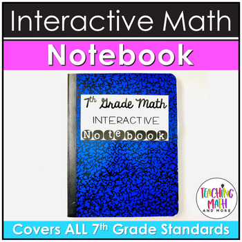 Middle School Interactive Math Notebook: 7th Grade BUNDLE