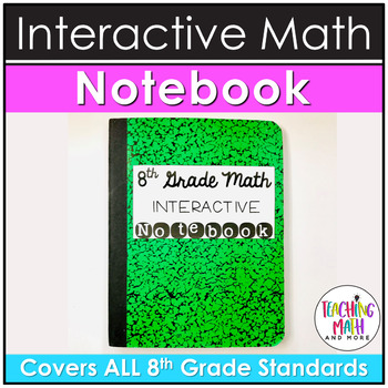Middle School Interactive Math Notebook: 8th Grade BUNDLE