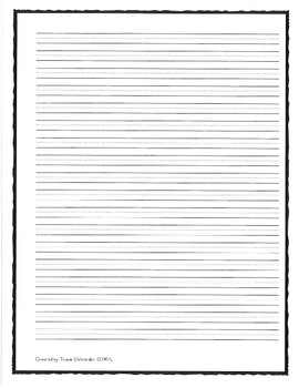 """Middle School/Intermediate Handwriting Paper 1/4"""" With Middle Dashed Lines"""