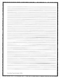 """Middle School/Intermediate Handwriting Paper 1/4"""" With Mid"""